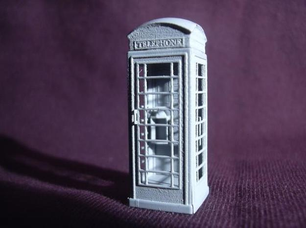 K6 Telephone Box (kiosk) - OO scale (1:76) in Smooth Fine Detail Plastic