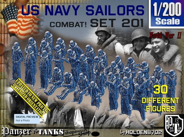 1/200 USN Combat set 201 in Frosted Extreme Detail