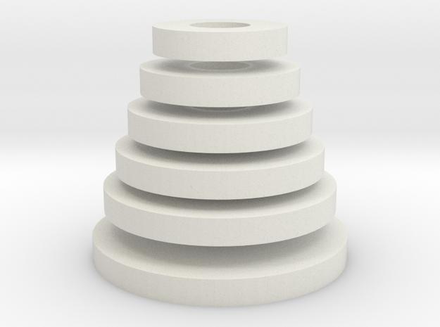 Tower of Hanoi (disks) in White Strong & Flexible