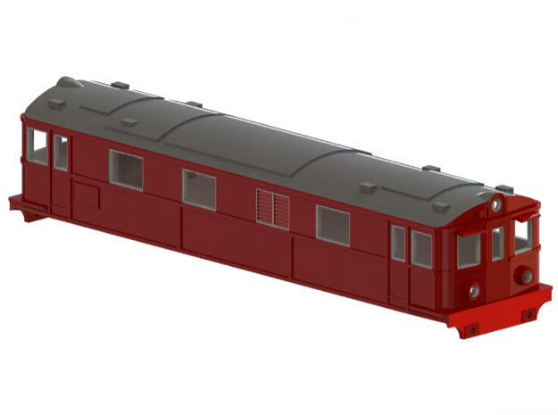 Swedish SJ electric locomotive type Dg2 - H0-scale in White Strong & Flexible