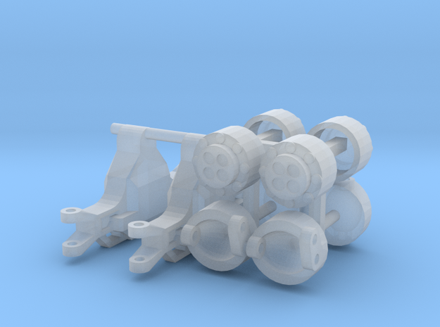 1/64 NH Front Axle in Smooth Fine Detail Plastic