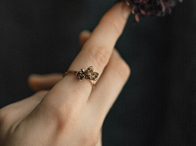 Succulent Stacking Ring No. 2 in Natural Bronze: 7 / 54