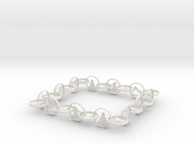 Yoga jewelry 16 inch necklace in White Natural Versatile Plastic