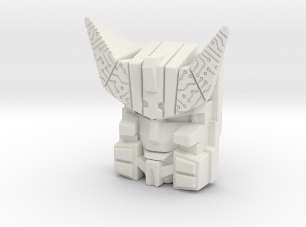 Cybertron Megatron Face (Deluxe/Voyager) in White Strong & Flexible