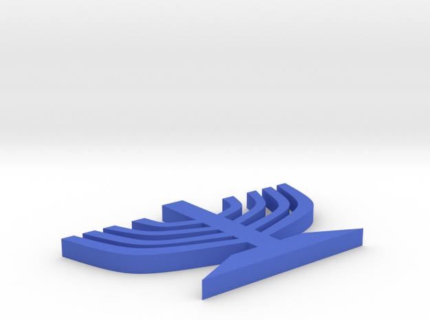 Menorah in Blue Processed Versatile Plastic