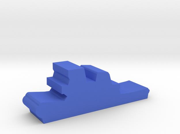 Game Piece, Tugboat in Blue Processed Versatile Plastic