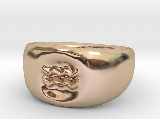 Aquarius Ring sz8 in 14k Rose Gold Plated Brass