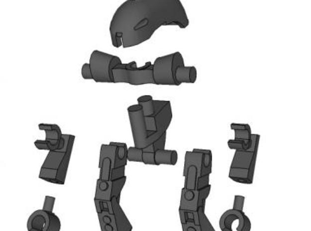 Snake Robot Complete Set 3d printed Building Instructions