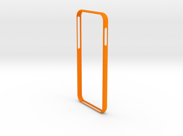 Bumper for iPhone 8 in Orange Strong & Flexible Polished