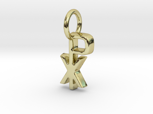 Chi Rho Pendant in 18k Gold Plated