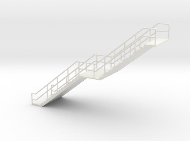 HO Stairs H68 in White Natural Versatile Plastic