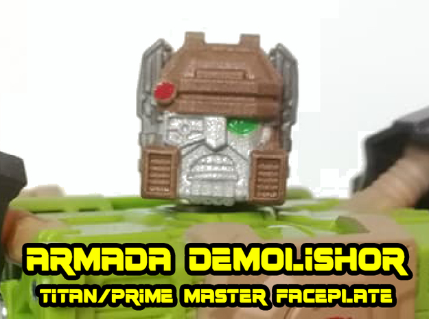 Demolishor Face (Titans Return) in Smooth Fine Detail Plastic