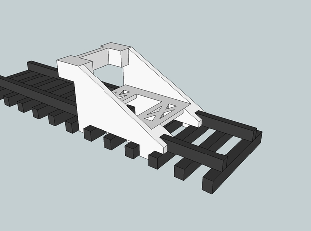 N Gauge Station End Buffer Stop 3d printed Track not included.