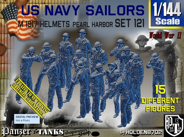 1/144 USN Pearl Harbor Set 121 in Frosted Ultra Detail