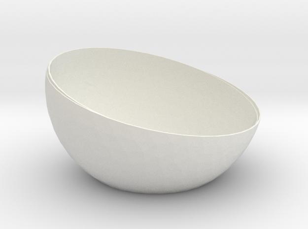 HalfaSphereT1 in White Natural Versatile Plastic