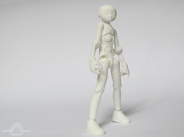 Ersatz MkII action figure Male Body in White Processed Versatile Plastic