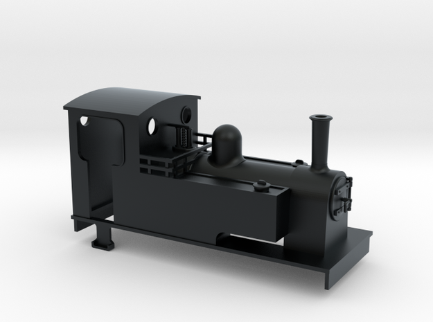 TTn3 kerr stuart style 0-6-0t loco in Black Hi-Def Acrylate