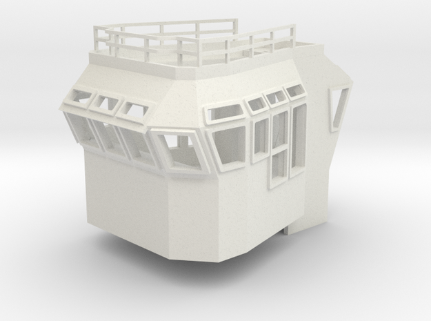 Bridge Superstructure 1/87 H0 fits Harbor Tug in White Strong & Flexible