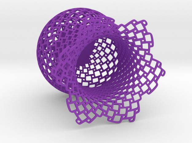 Pythagorean cup in Purple Processed Versatile Plastic