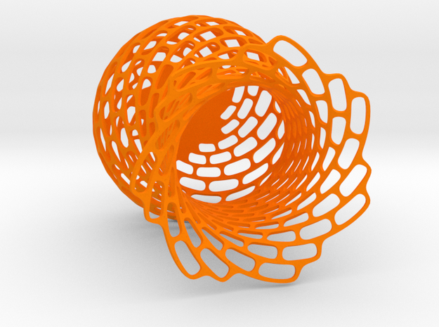 Brick cup in Orange Processed Versatile Plastic