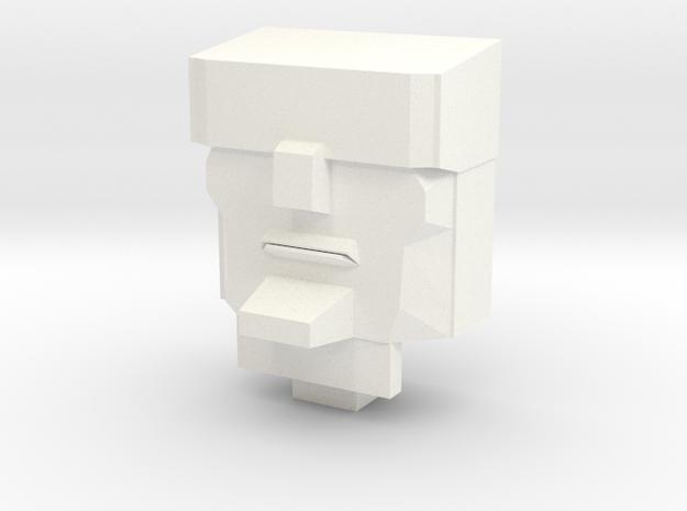 G1 Scorponok Head 'Grumpier Edition' in White Processed Versatile Plastic