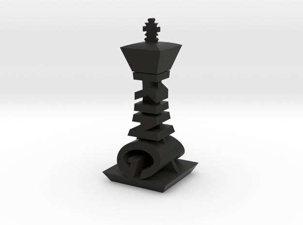 Modern Chess Set - KING in Black Strong & Flexible
