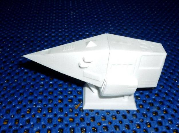 Python-Class Cruiser Model Kit 3d printed Assembled in WSF