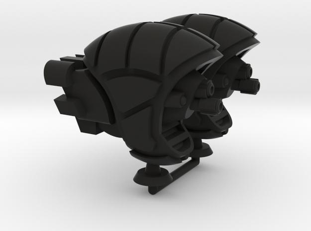 Tarmalan Type 1 Battler - 1:20000 in Black Natural Versatile Plastic