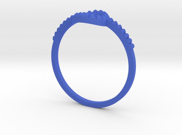 anello cerchio borchie gambo in Blue Processed Versatile Plastic