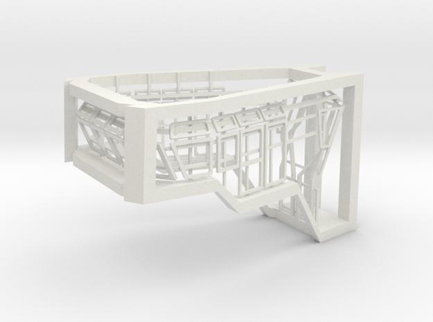 Window Frames 1/50 fit Harbor Tug Bridge in White Natural Versatile Plastic