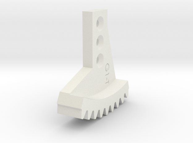 Metal/Plastic elevation gear rock for 16017 in White Strong & Flexible