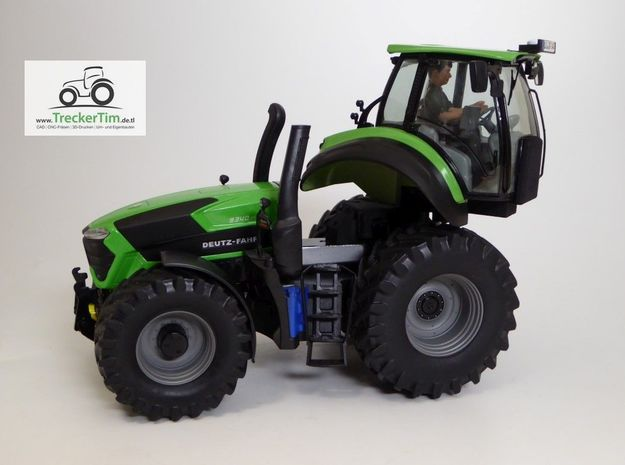 Schuco Deutz Drehkabine in Black Natural Versatile Plastic