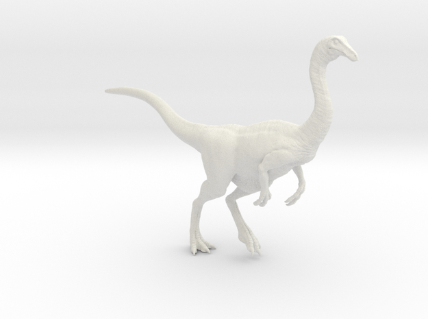 Gallimimus Pose 02 1/24 - DeCoster in White Strong & Flexible
