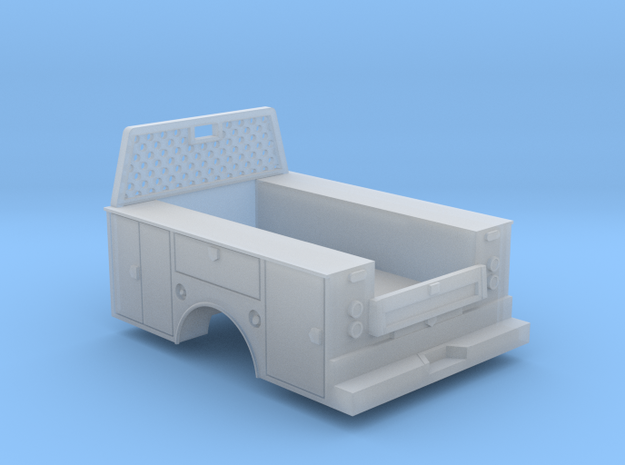 Standard Full Box Truck Bed W Cab Guard 1-64 Scale