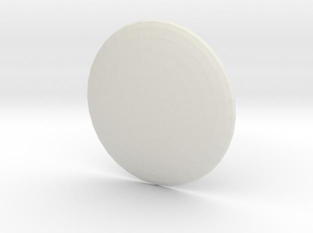 Round Custom Symbol Shield, 4mm in White Natural Versatile Plastic