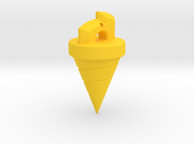 Gurren Lagann Drill Ornament in Yellow Processed Versatile Plastic