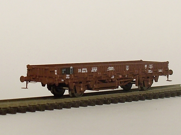 2152 1/148 German train-ferry wagon, 40t-glw low 3d printed painted model with additional parts and lettering