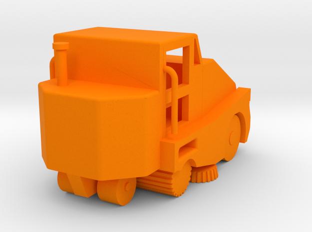 Pelican Street Sweeper HO 87:1 Scale in Orange Processed Versatile Plastic