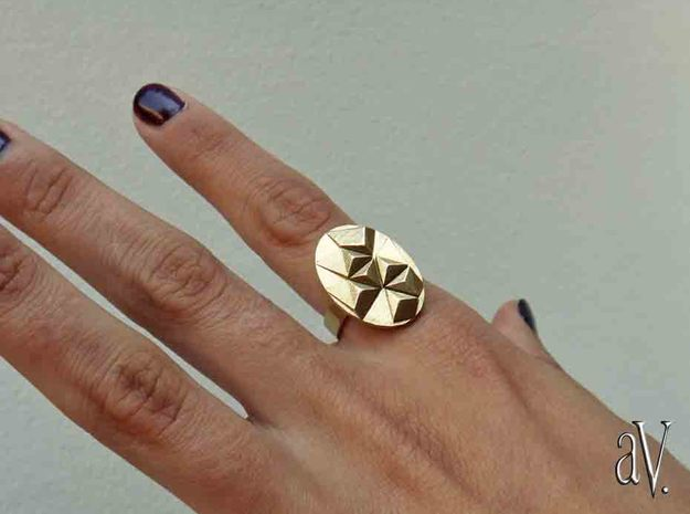 Gemini Ring in Polished Brass: 9 / 59