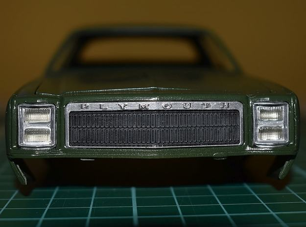 1/25 1977 Plymouth Fury Grill in Smoothest Fine Detail Plastic