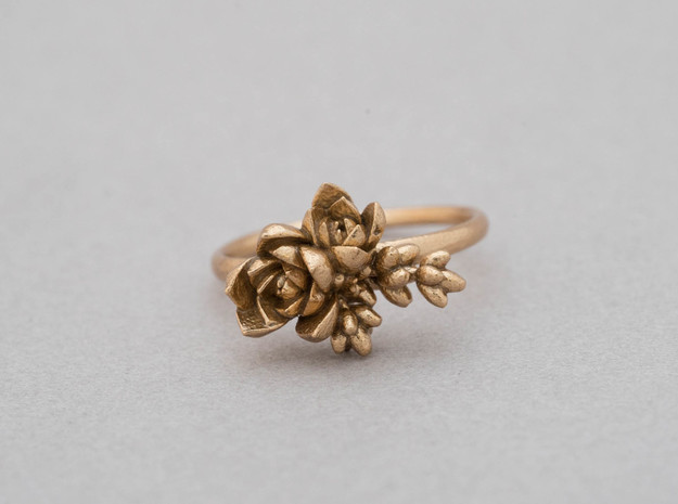 Botanical Cluster Ring in Natural Bronze: 7 / 54