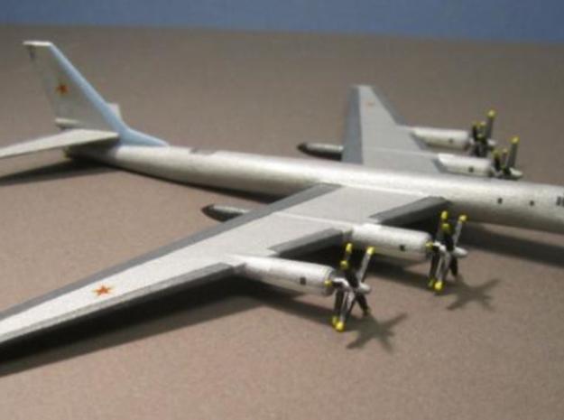 1/285 (6mm) TU-95 Bear Bomber 3d printed