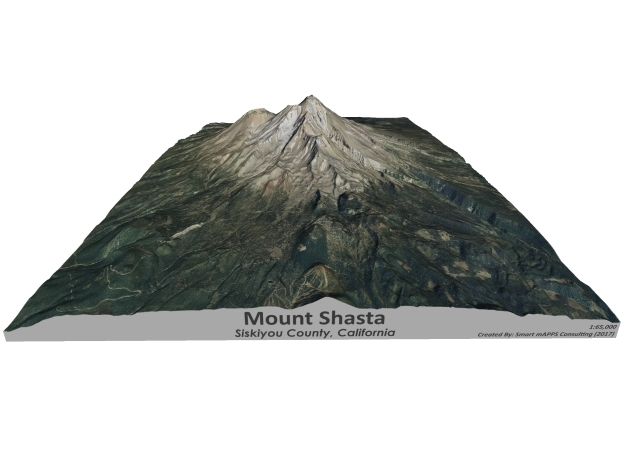 "Mount Shasta 8.5""x11"" in Coated Full Color Sandstone"