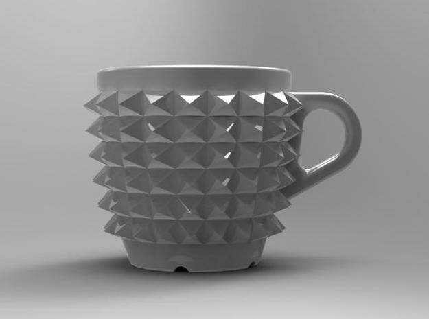 one cup a day | Day 02: Studded Belt Cup 3d printed Front