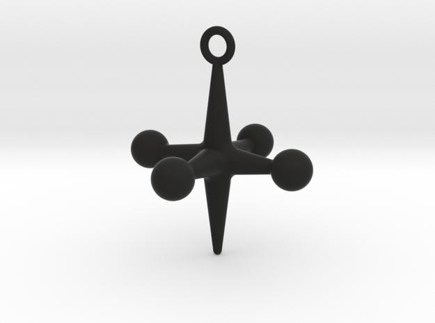 Jacks Ornament in Black Natural Versatile Plastic