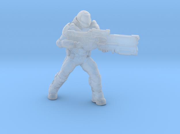doomguy doom slayer 28mm heroic scale miniature in Smooth Fine Detail Plastic