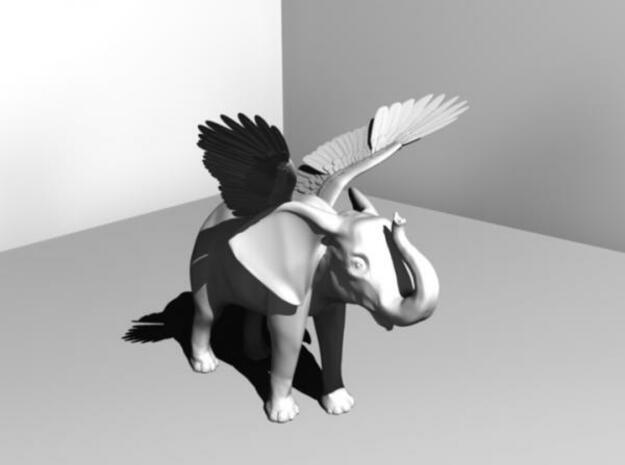 The First Elephant 3d printed Description