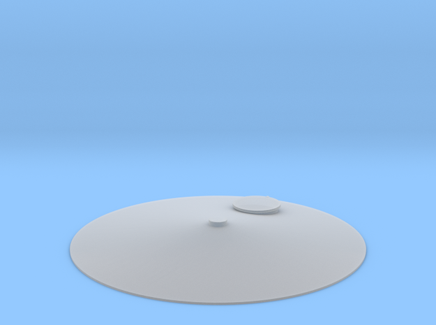 """'HO Scale' - Storage Tank Top - 2"""" PVC w/o Railing in Smooth Fine Detail Plastic"""