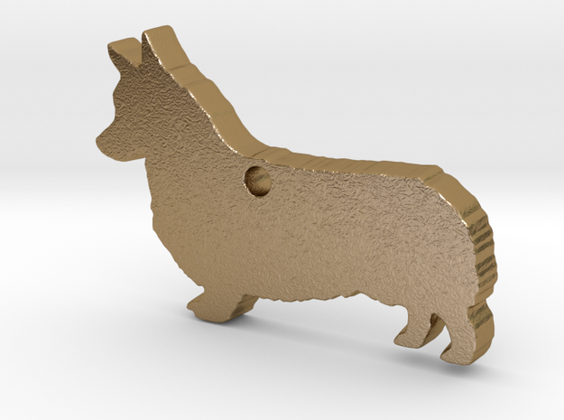 Corgi's Pose for Best of Breed in Polished Gold Steel