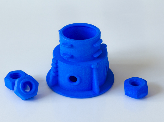 Panohero Foot with Hex Nuts in Blue Processed Versatile Plastic